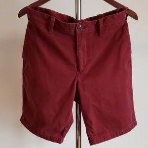 EXPRESS Slim Fit Flat Front Shorts